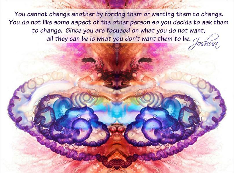 You can not change another by forcing them or wanting them to change